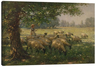 The Shepherdess Canvas Art Print