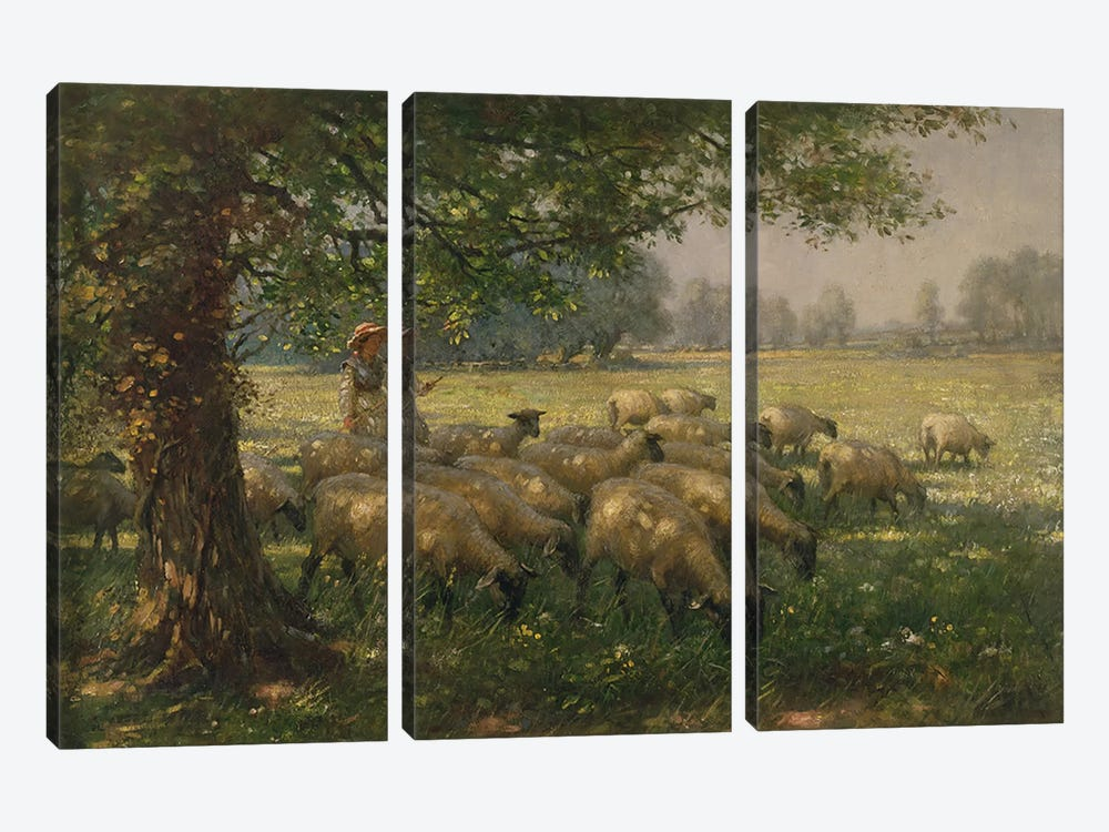 The Shepherdess  by William Kay Blacklock 3-piece Canvas Print