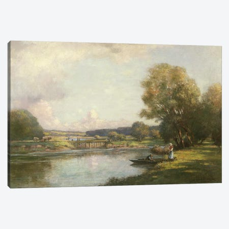 Summer at Hemingford Grey  Canvas Print #BMN3614} by William Kay Blacklock Art Print