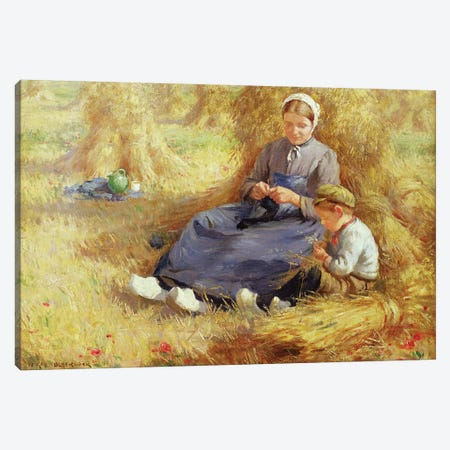 Midday rest, 1915  Canvas Print #BMN3616} by William Kay Blacklock Canvas Print
