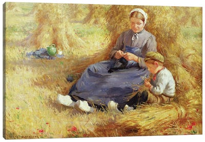 Midday rest, 1915  Canvas Art Print