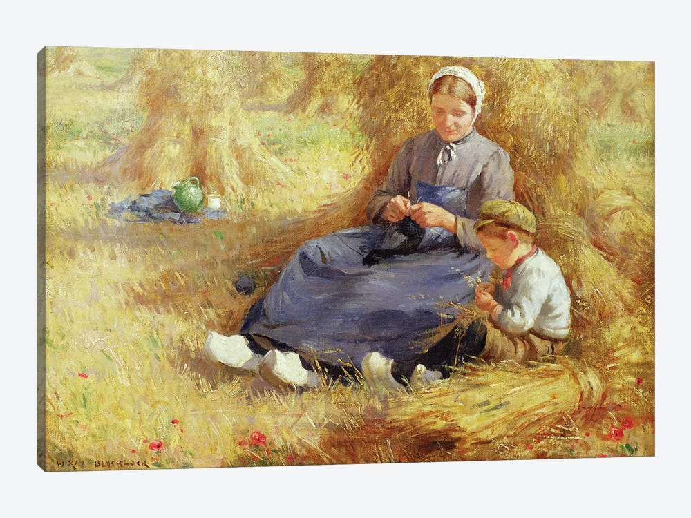 Midday rest, 1915  by William Kay Blacklock 1-piece Canvas Art