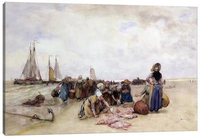 Fish Sale on the Beach  Canvas Print #BMN3617