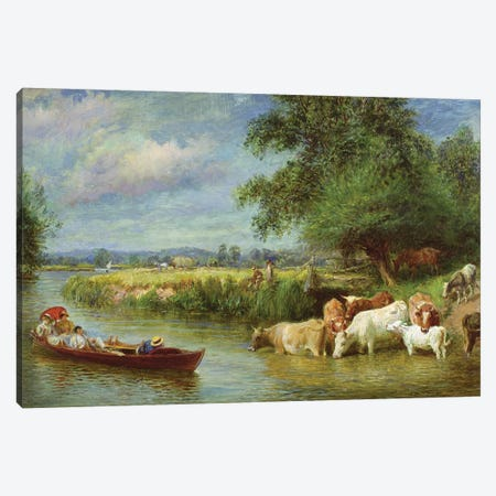 A Midsummer's Day on the Thames  Canvas Print #BMN3619} by Basil Bradley Canvas Wall Art