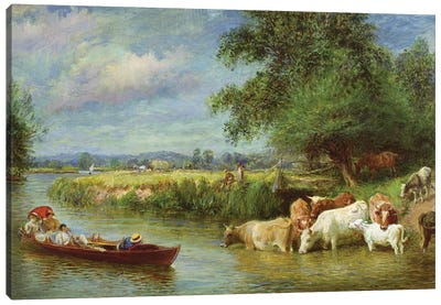 A Midsummer's Day on the Thames  Canvas Art Print