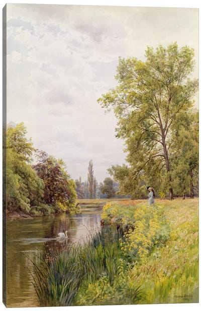 The Thames at Purley, 1884  Canvas Art Print