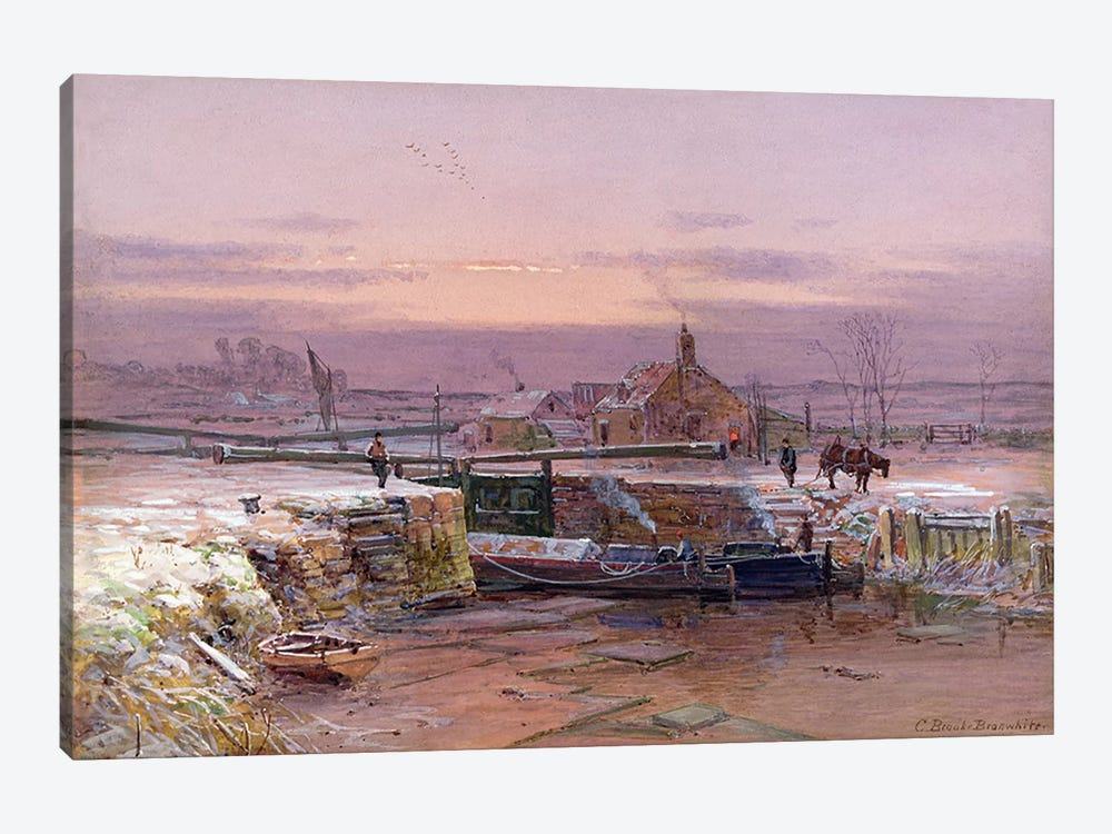 The House by the Canal by Charles Brooke Branwhite 1-piece Canvas Artwork