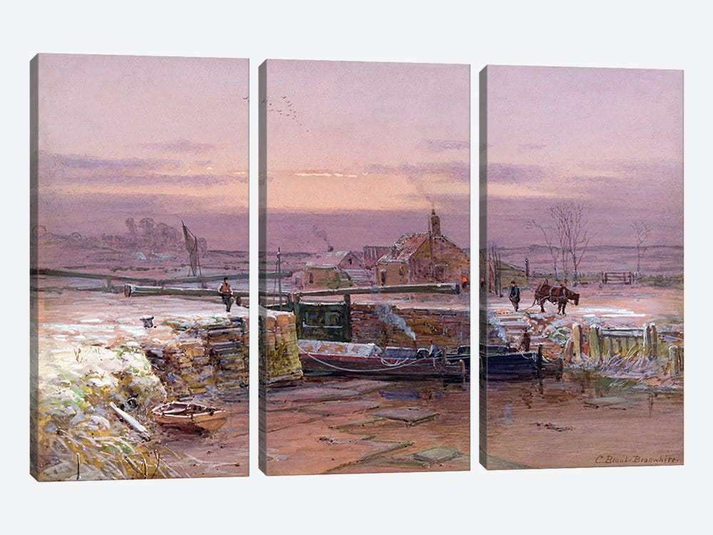 The House by the Canal by Charles Brooke Branwhite 3-piece Canvas Artwork