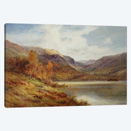 October in the Highlands  Canvas Print #BMN3622} by Alfred de Breanski Canvas Art Print
