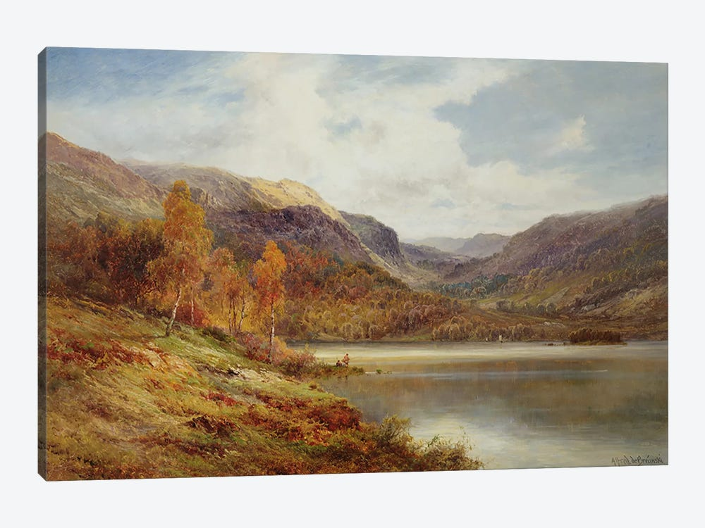 October in the Highlands  by Alfred de Breanski 1-piece Art Print