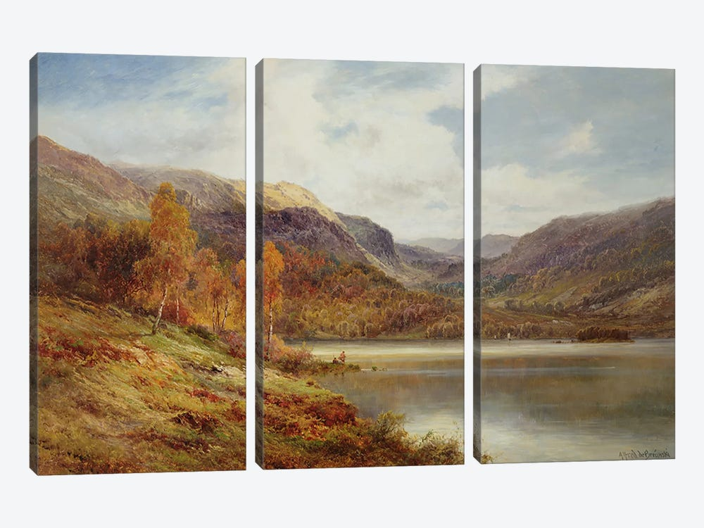 October in the Highlands  by Alfred de Breanski 3-piece Art Print