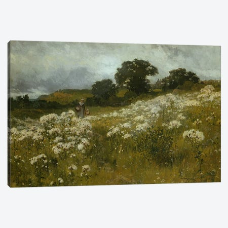 Across the Fields  Canvas Print #BMN3623} by John Mallord Bromley Art Print