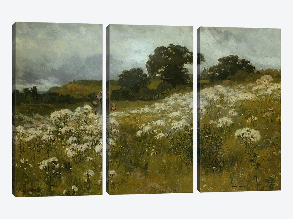Across the Fields  by John Mallord Bromley 3-piece Canvas Art