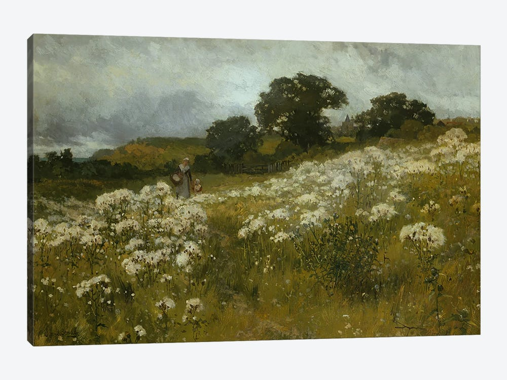 Across the Fields  by John Mallord Bromley 1-piece Canvas Art