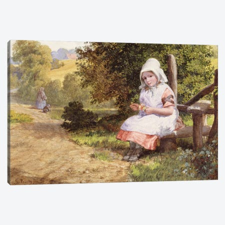 Resting, 1865  Canvas Print #BMN3624} by Valentine Walter Lewis Bromley Canvas Wall Art