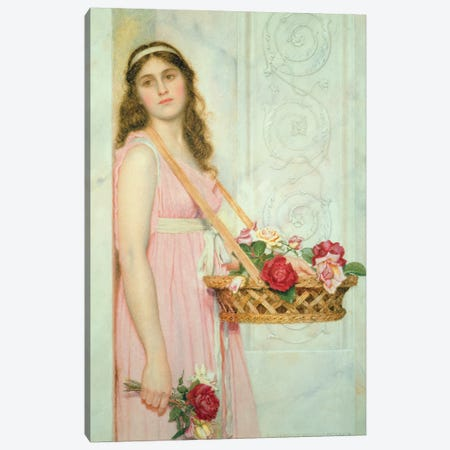 The Flower Seller, 1929  Canvas Print #BMN3625} by George Lawrence Bulleid Canvas Artwork