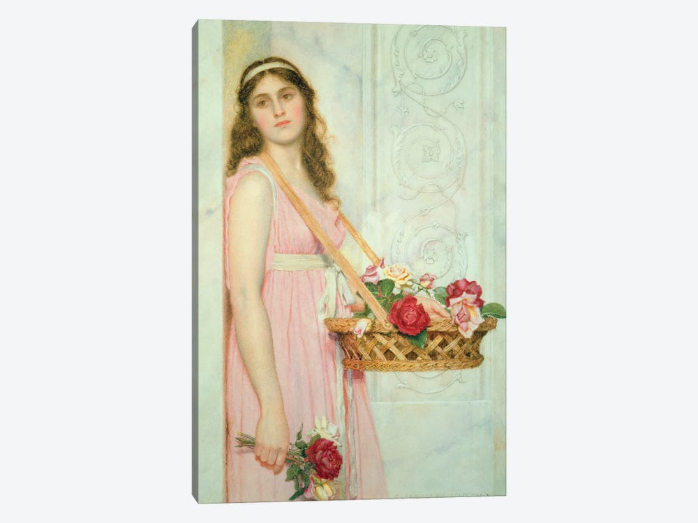 The Flower Seller, 1929  by George Lawrence Bulleid 1-piece Canvas Art
