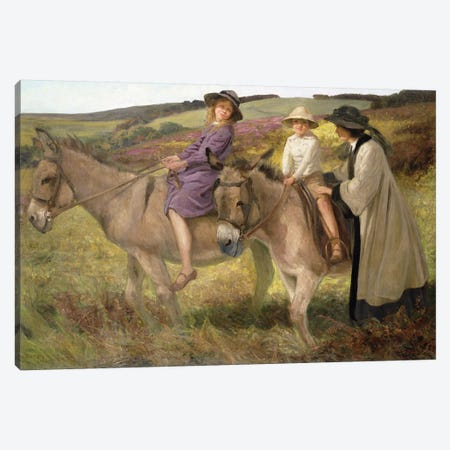 The Donkey Ride, 1912  Canvas Print #BMN3626} by George Edmund Butler Canvas Wall Art