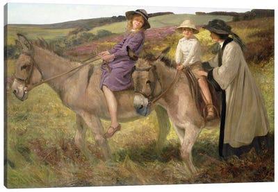 The Donkey Ride, 1912  Canvas Art Print