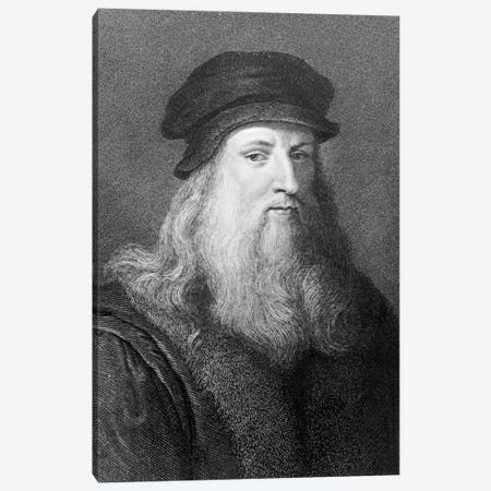 Leonardo da Vinci, engraved by Raphael Morghen, 1817  Canvas Print #BMN3645} by Leonardo da Vinci Canvas Artwork