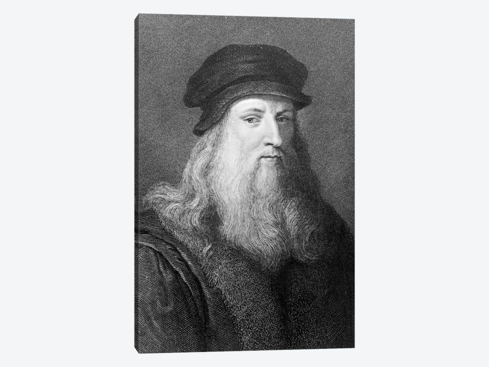 Leonardo da Vinci, engraved by Raphael Morghen, 1817  by Leonardo da Vinci 1-piece Canvas Artwork