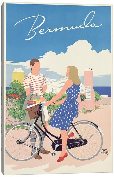 Poster advertising Bermuda, c.1956  Canvas Art Print