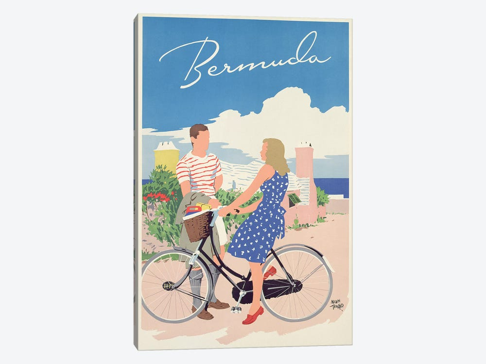 Poster advertising Bermuda, c.1956  by Adolph Treidler 1-piece Art Print