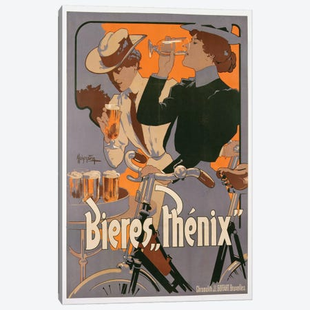 Poster advertising Phenix beer, c.1899  Canvas Print #BMN3653} by Adolfo Hohenstein Canvas Wall Art