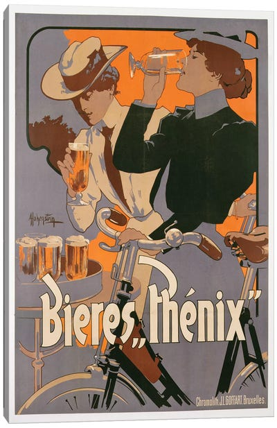 Poster advertising Phenix beer, c.1899  Canvas Art Print