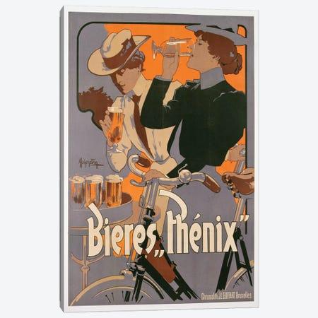 Poster advertising Phenix beer, c.1899  Canvas Print #BMN3653} by Adolfo Hohenstein Canvas Wall Art