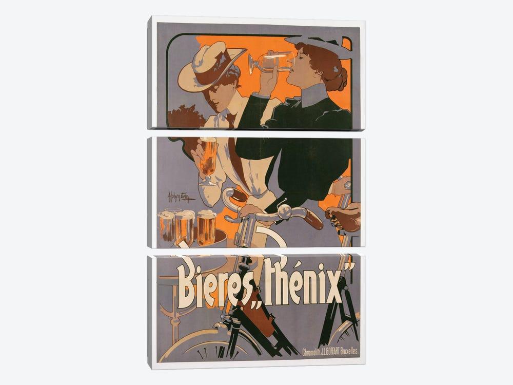 Poster advertising Phenix beer, c.1899  by Adolfo Hohenstein 3-piece Canvas Print
