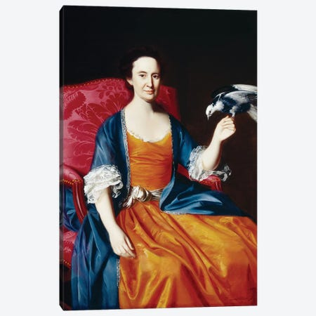 Mrs. Benjamin Hallowell, 1766/67  Canvas Print #BMN3658} by John Singleton Copley Canvas Artwork