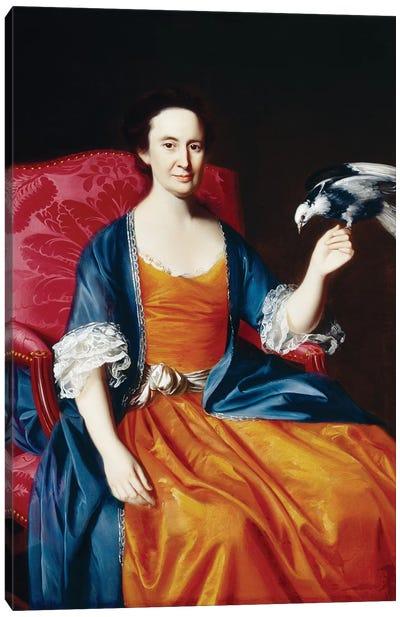 Mrs. Benjamin Hallowell, 1766/67  Canvas Art Print