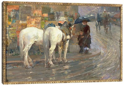 Paris Street Scene, c.1889  Canvas Art Print