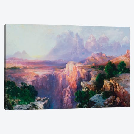 Rock Towers of the Rio Virgin, 1908  Canvas Print #BMN3660} by Thomas Moran Art Print