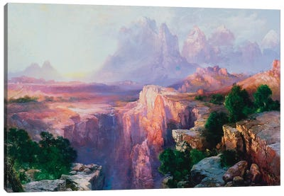 Rock Towers of the Rio Virgin, 1908  Canvas Art Print
