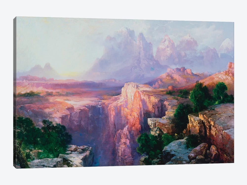 Rock Towers of the Rio Virgin, 1908  by Thomas Moran 1-piece Canvas Print