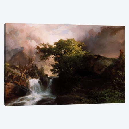 A Mountain Stream, 1869  Canvas Print #BMN3661} by Thomas Moran Canvas Art Print