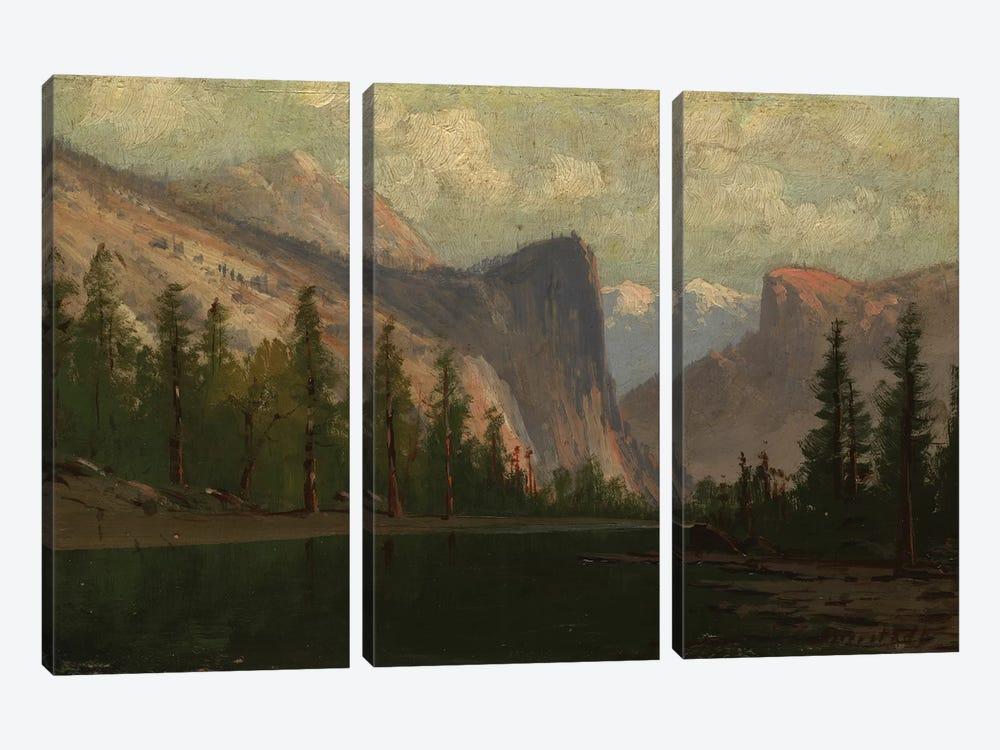 Yosemite  by Albert Bierstadt 3-piece Canvas Art Print
