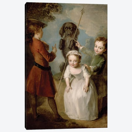Playing Soldier, c.1743  Canvas Print #BMN3666} by Philippe Mercier Canvas Artwork