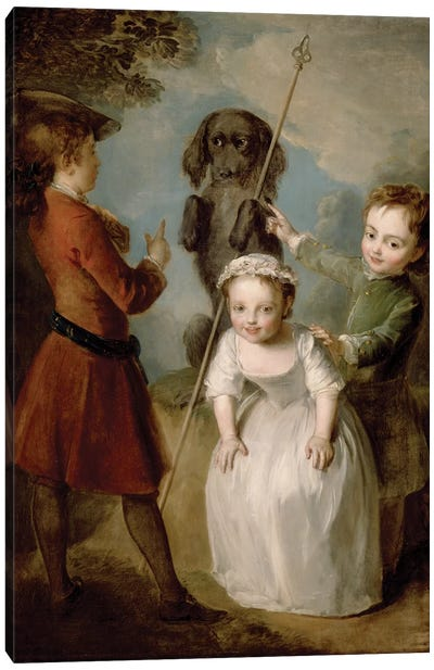 Playing Soldier, c.1743  Canvas Art Print
