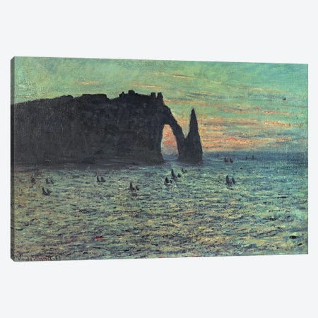 The Hollow Needle at Etretat, 1883  Canvas Print #BMN3668} by Claude Monet Canvas Print