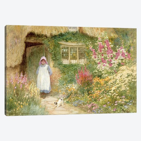 The Puppy  Canvas Print #BMN3672} by Arthur Claude Strachan Canvas Artwork