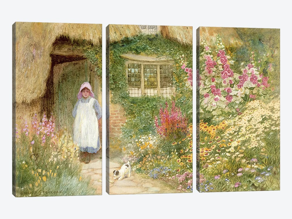 The Puppy  by Arthur Claude Strachan 3-piece Canvas Wall Art