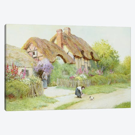 Making Friends  Canvas Print #BMN3673} by Arthur Claude Strachan Canvas Artwork