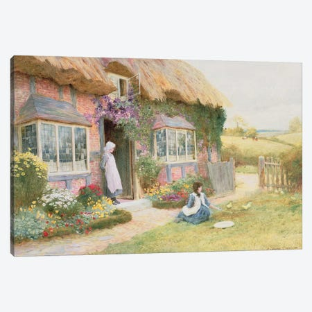 Peaceful Afternoon  Canvas Print #BMN3674} by Arthur Claude Strachan Art Print