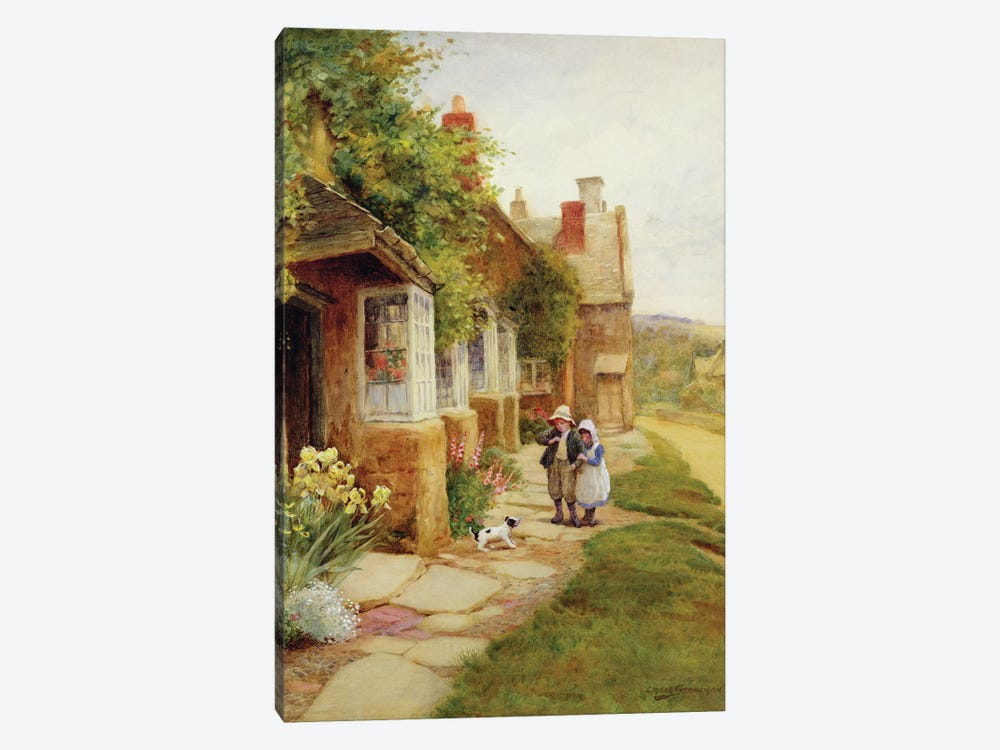 Broadway - The Puppy  by Arthur Claude Strachan 1-piece Canvas Print