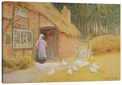 The Goose Girl Canvas Art Print