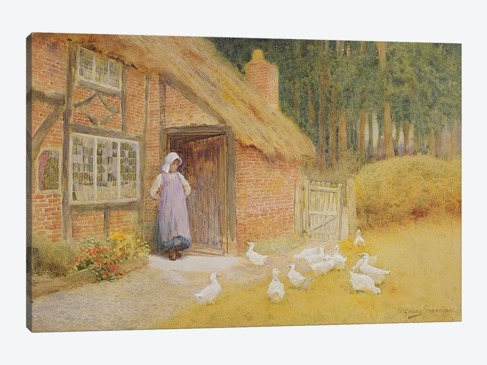 The Goose Girl  by Arthur Claude Strachan 1-piece Canvas Art Print