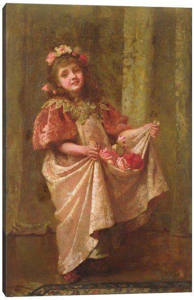A Present of Roses  Canvas Art Print